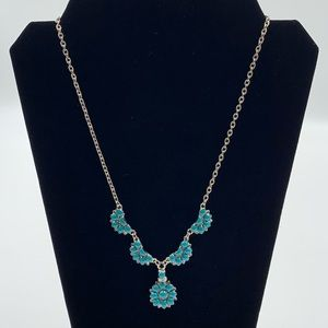 Tribal Native American Boho Turquoise Bib Necklace
